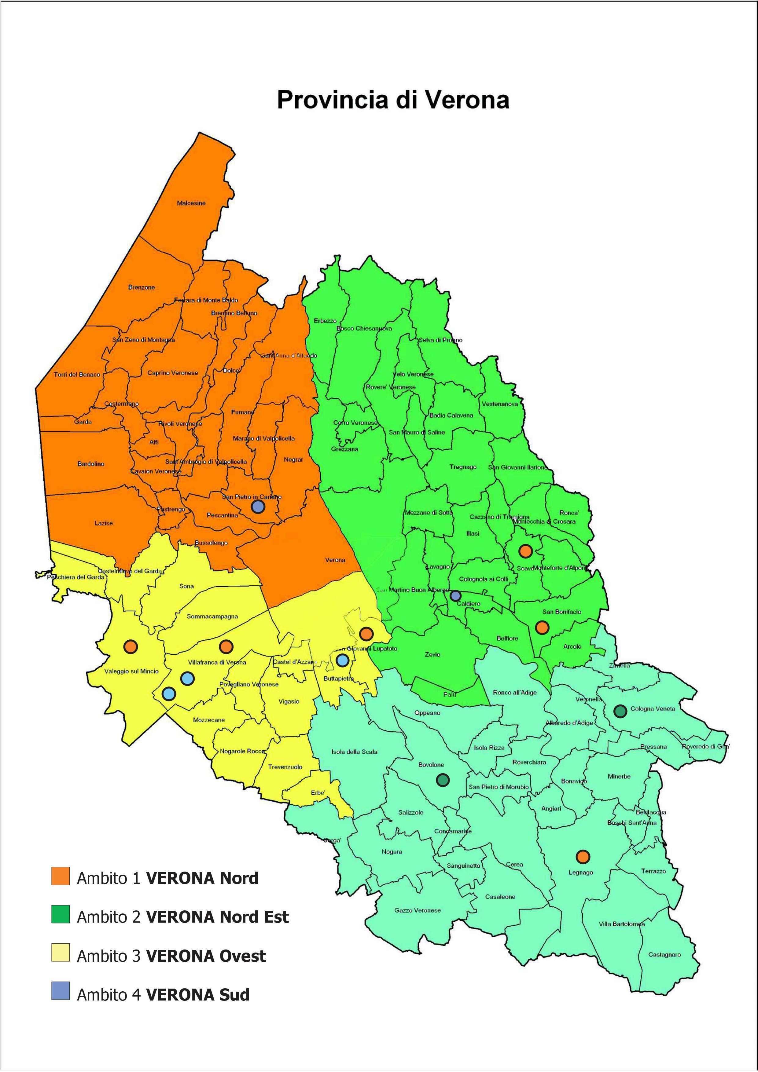 Ambiti Territoriali Della Provincia Di Verona