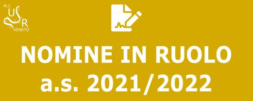 Nomine in ruolo 2021-22