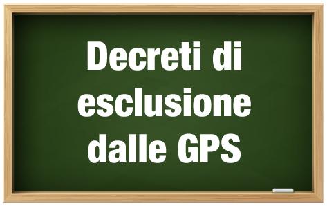 Decreti esclusione dalle GPS